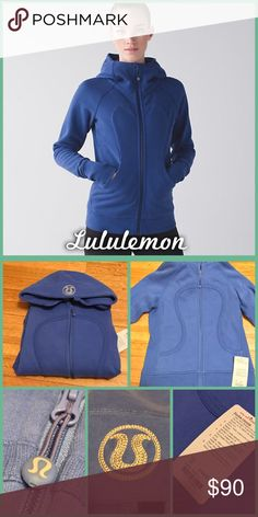 Lululemon Scuba Hoodie Brand new with tags, size 12, zip up, scuba hoodie from Lululemon. I believe the official color is sapphire, but I'm not entirely sure. lululemon athletica Tops Sweatshirts & Hoodies