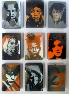 27 Club - Alex Hamilton hand cut stencils on studio debris