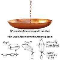 Copper Rain Chain base