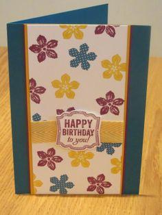 Stampin' Up Petite Petals Handmade Card