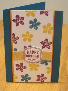 Stampin' Up Petite Petals Handmade Card