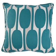 Buy Tesco Cushions Retro Print Cushion, Teal from our Cushions range - Tesco.com