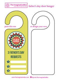 Father's Day free printables, art & craft projects for kids Door Hanger Printing, Door Hanger Template, Craft Projects For Kids, Crafts For Kids To Make, Kids Crafts, Craft Activities, Preschool Crafts, Classroom Activities, How To Make Doodle
