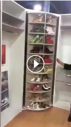 A Spinning Shoe/bag Rack. Could Easily Adapt A Simple Pantry Cabinet Into  This