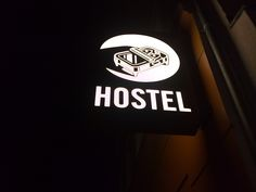 funny hostel logo, in Berlin