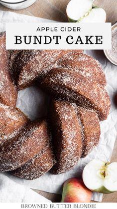 Apple Dessert Recipes, Sweets Recipes, Apple Recipes, Just Desserts, Fall Recipes, Baking Recipes, Cupcake Cakes, Bundt Cakes, Fall Baking