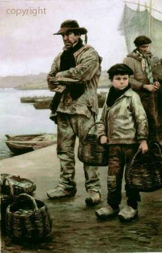 """Marins-paysans sardiniers"", Achille Granchi-Taylor, 1857-1921"