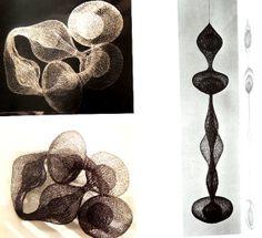 Beautiful #Crochet Metal Sculptures of Ruth Asawa