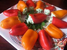 The Brick Kitchen: Gorgonzola and Spinach Stuffed Mini Sweet Peppers