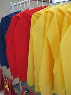 Capes and favors at a Superhero Party #superhero #party