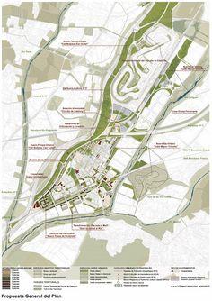 Paisaje Transversal Blog: Plan de Ordenación Municipal de Montmeló Architecture Site Plan, Masterplan Architecture, Space Architecture, Urban Design Diagram, Urban Design Plan, Plan Design, Landscape Diagram, Landscape And Urbanism, Landscape Design