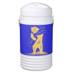 I Love You California--Blue and Gold Igloo Cooler