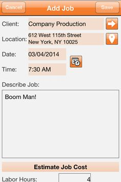 #OddJobs #App Screenshot For A New Job Estimate