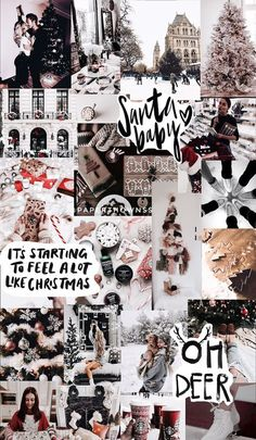 Christmas collage/wallpaper by iPhone X Wallpaper Holiday Iphone Wallpaper, Cute Fall Wallpaper, Tumblr Iphone Wallpaper, Cute Christmas Wallpaper, Christmas Aesthetic Wallpaper, Holiday Wallpaper, Iphone Wallpaper Tumblr Aesthetic, Christmas Background, Wallpaper Iphone Disney