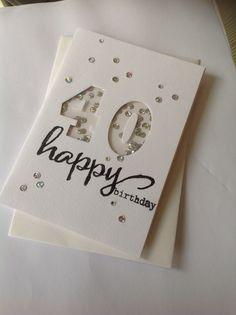 40 th birthday window card