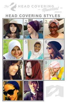 There are so many different styles of head coverings to choose from when covering as a Christian woman. Check out these styles and learn more about head covering. Head Scarf Styles, Hair Styles, Hair Cover, Modest Outfits, Modest Wear, Godly Woman, Christian Women, Bad Hair, Head Wraps
