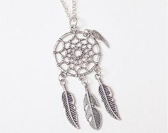 Antique Silver Dream Catcher Necklace!