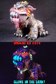 Hell Hound  Sculpted Zombie Pipe By Undead Ed OOAK by Zoombiez, $575.00