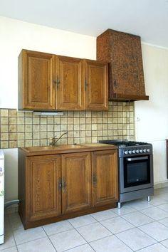 peindre meuble cuisine en bois avec peinture Libéron photo avant