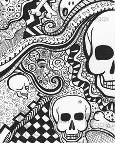 The Finest Coloring web page – skeleton print impressed by zentangle, doodle artwork, printable Best Picture For Coloring Pages For Your Taste You are looking. Skull Coloring Pages, Detailed Coloring Pages, Adult Coloring Book Pages, Printable Adult Coloring Pages, Colouring Pages, Coloring Books, Doodle Coloring, Trippy Drawings, Doodle Drawings
