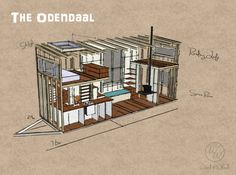 "Tiny House Plans for our tiny home, ""the Odendaal"""