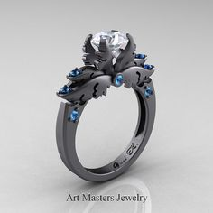"""Classic Angel 14K Grey Gold 1.0 Ct White Sapphire by DesignMasters"" oh lord this is unreal."