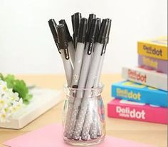 1Pcs Star gel pen Office signature gel pen Student stationery prize office and school supplies black gel pen