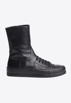 284915e4efc135 High Top Sneakers Triad Nero   ANN DEMEULEMEESTER Cool Boots