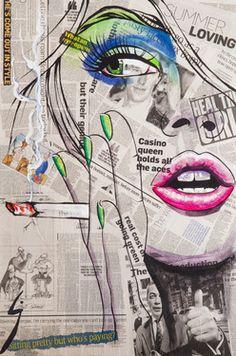 "eSaatchi Art Artist Conrad Jones; Painting, ""Smok'in Ivy"" #art"