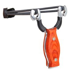 I Need this Pro Wood Handle Stainless Steel Slingshot Outdoor Hunting Catapult Tomahawk / Camping Survival, Survival Gear, Lance Pierre, Spear Thrower, Hunting Catapult, Easy Shots, Self Defense Weapons, Lethal Weapon, Closet Accessories