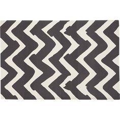Chevron Outdoor 4'x6' Rug in Outdoor Rugs | Crate and Barrel