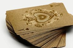 For the poker player in your life, pick up a set of these gold playing cards! They add some pizzaz and style to any game, even if you're just playing Go Fish...