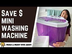 HOW TO SAVE MONEY on Laundry with Mini Portable Washing Machine   FRUGAL LIVING - YouTube Mini Washing Machine, Portable Washing Machine, Doing Laundry, Laundry Room, Spin Dryers, Frugal Living, Washer, Saving Money, Learning