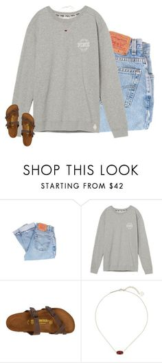 """""""give me forever for a while"""" by preppin ❤ liked on Polyvore featuring Levi's, Victoria's Secret, Birkenstock, Kendra Scott and Kate Spade"""