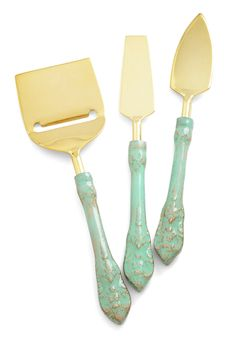 Classy Company Cheese Knife Set. Impress your chic friends with these elegant utensils! #multi #wedding #modcloth