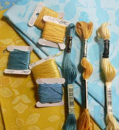 November Color Challenge--Tempting Turquoise, Daffodil Delight, So Safron Dmc Embroidery Floss, Hand Embroidery Patterns, Ribbon Embroidery, Cross Stitch Embroidery, Diy Friendship Bracelets Patterns, Thread Bracelets, Summer Bracelets, Bracelet Crafts, Dmc Floss