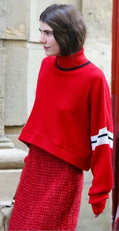 Ursina Gysi    Junior Gaultier sweaterChanel skirt  Photographed by Phil Oh