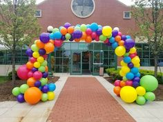 """Organic Arch Multi Color on Frame. """"Party Rentals"""" """"PJs Rentals"""" """"Rental Images"""" """"Party Equipment"""" """"Event Rentals"""" """"Balloon Delivery"""" """"Balloon Decor"""" … - Decoration For Home Wiggles Birthday, Wiggles Party, 1st Boy Birthday, Balloon Gate, Balloon Columns, Balloon Garland, Balloon Centerpieces, Balloon Decorations Party, Festival Themed Party"""