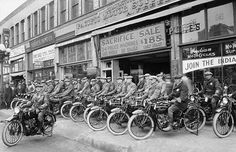 Picture Of The Week. Model T Era Indian Motorcycle Store Front Gathering