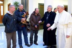 Pope shares his 77th birthday with the homeless >>> Such a simple yet beautiful act of kindness