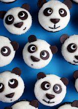 Easy mini-panda cupcakes