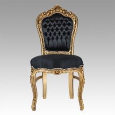 Ordinaire Rococo Dining Chair   Black On Gold   DINING CHAIRS   SEATING