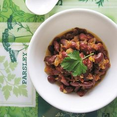 Kidney Beans Curry, mildly spiced to warm up your holiday meal.