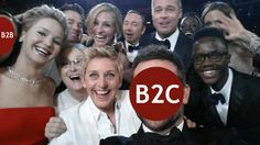 Where does #B2B stand versus #B2C in the #socialmedia supremacy league?