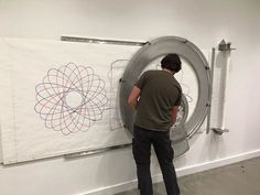 """Spiro"" - A 5' diameter, wall mounted spirograph"