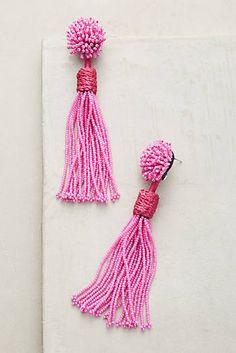 Lana Beaded Tassel Drop Earrings