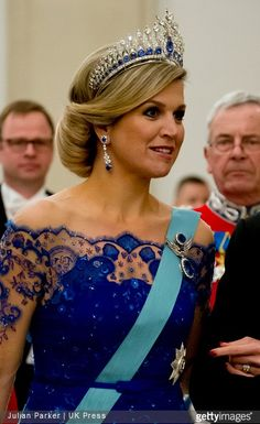 Dutch State visit to Denmark - Gala Dinner at Christiansborg Palace 17 maart 2015