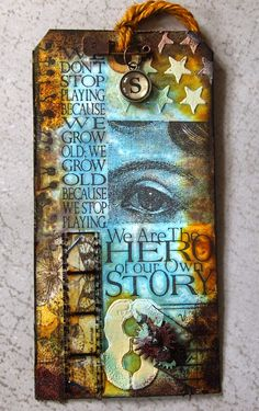 klistersøster: Tim Holtz 12 Tags of 2014 august