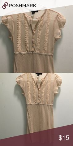 Vintage Cream lace tunic Perfect to wear with a slip underneath. Express Tops Tunics