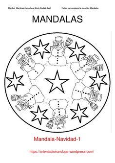 mandala winter schneeflocken ausmalbild kostenlos #